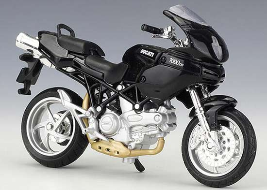 Black 1:18 Scale Maisto Diecast Ducati Multistrada 1000DS Model