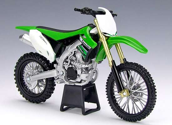 Green 1:12 Scale NewRay Diecast 2012 Kawasaki KX450F Model