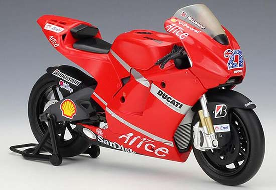1:12 Red No.27 NewRay Diecast Ducati Pramac Racing Model