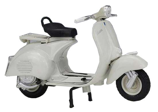 1:18 Scale White Maisto Diecast 1956 Vespa 150 Scooter Model