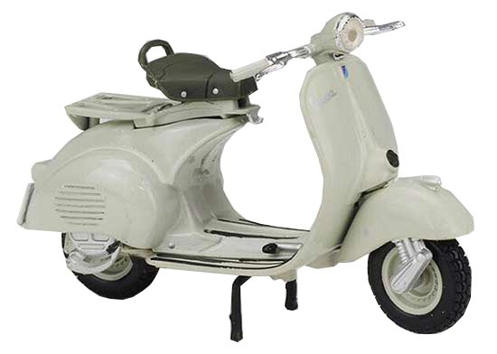 White 1:18 Scale Diecast 1955 Vespa 150 Scooter Model