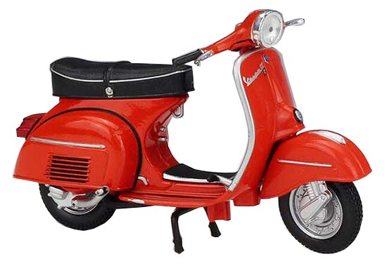 Red 1:18 Scale Diecast 1971 Vespa 125 GTR Scooter Model