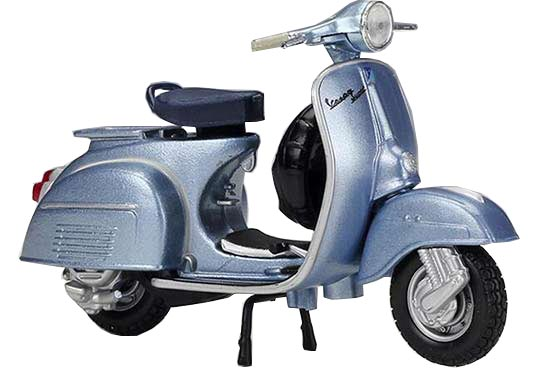 Blue 1:18 Scale Diecast 1965 Vespa 150 Super Scooter Model