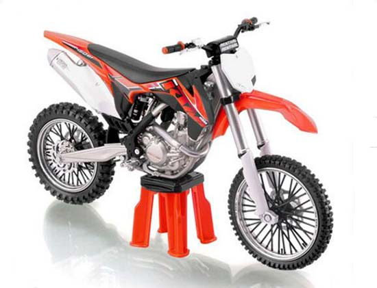 1:12 Scale Black-Red Diecast KTM 450 SX-F Motorcycle Model