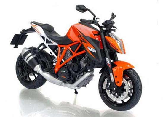 1:12 Orange Diecast KTM 1290 Super Duke R Motorcycle Model