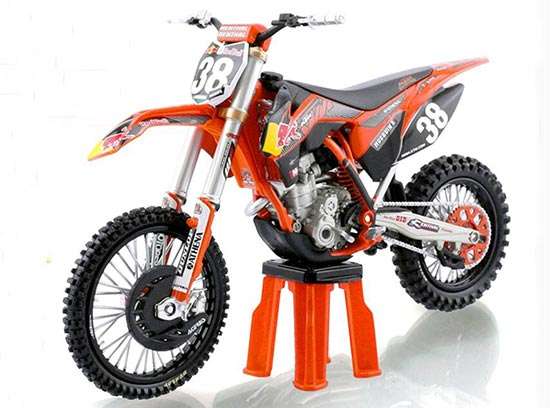1:12 Scale NO.38 Diecast KTM 250 SX-F Motorcycle Model
