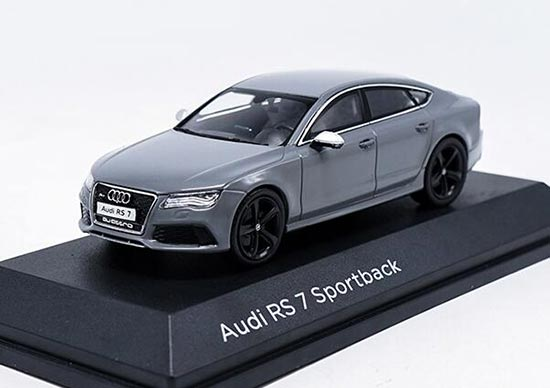 Gray / Black / Blue / White Diecast Audi RS7 Sportback Model
