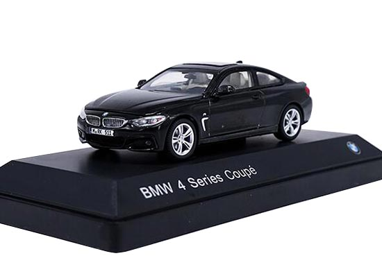 1:43 Scale Black / White Diecast BMW 4 Series Coupe Model