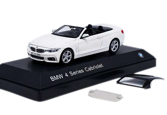 Black / White 1:43 Scale Diecast BMW 4 Series Cabriolet Model