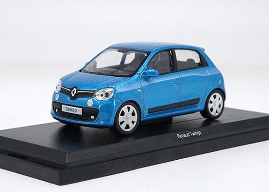1:43 Scale Blue / Brown NOREV Diecast Renault Twingo Model