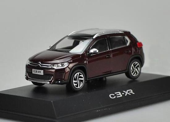 White / Brown 1:43 Scale Diecast Citroen C3-XR Model