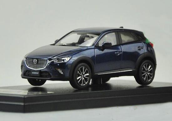 Deep Blue 1:43 Scale Diecast Mazda CX-3 Model