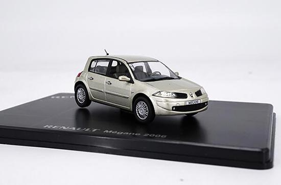 Champagne 1:43 Scale Diecast Renault Megane 2006 Model