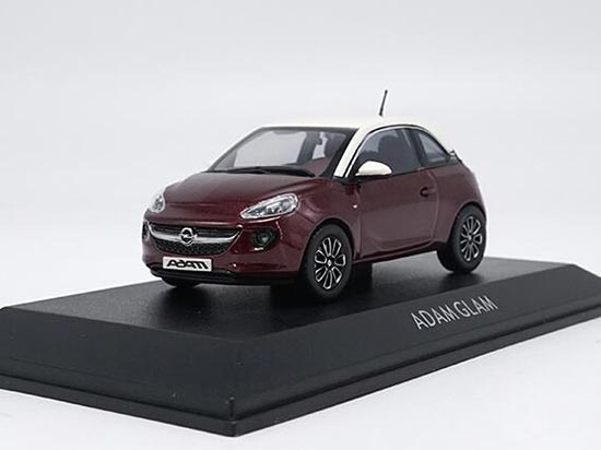 Wine Red 1:43 Scale Diecast Opel Adam Glam Model