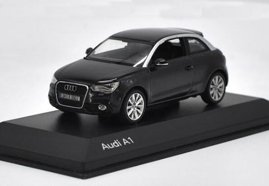 Black 1:43 Scale Kyosho Diecast Audi A1 Model