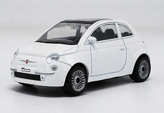 1:43 Scale White Diecast Fiat 500 Model