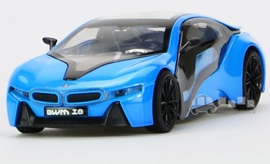 1 32 Silver Blue White Kids Diecast Bmw I8 Toy Nm02b001