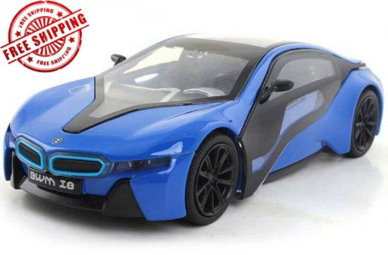 1:32 Silver / Blue / White Kids Diecast BMW I8 Toy