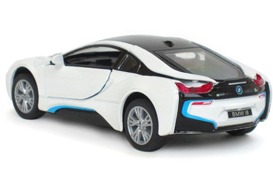 Silver Blue White Black 136 Kids Diecast BMW I8 Toy
