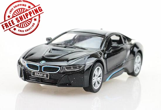 Silver / Blue / White / Black 1:36 Kids Diecast BMW I8 Toy