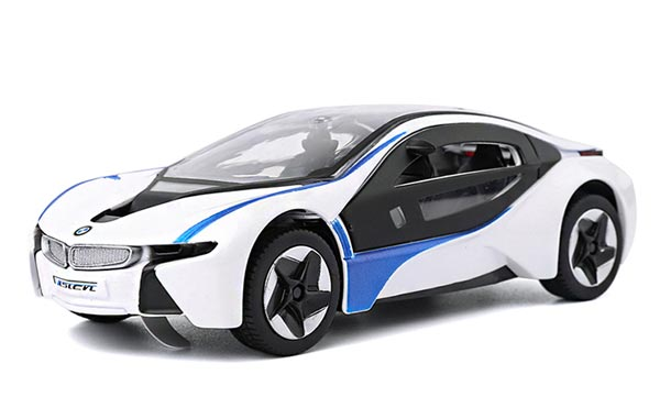 Kids 1:32 Scale White Pull-Back Function Diecast BMW I8 Toy