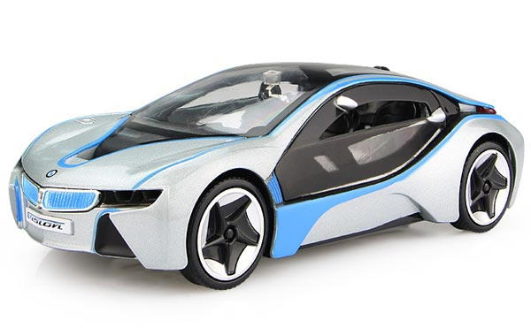 White / Yellow / Silver / Red Kids 1:28 Diecast BMW I8 Toy