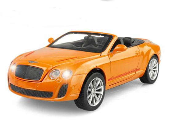 Kids 1:32 White / Blue / Orange Diecast Bentley Continental Toy