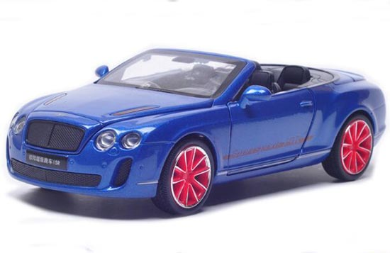 White / Blue / Black /Gray 1:32 Diecast Bentley Continental ISR