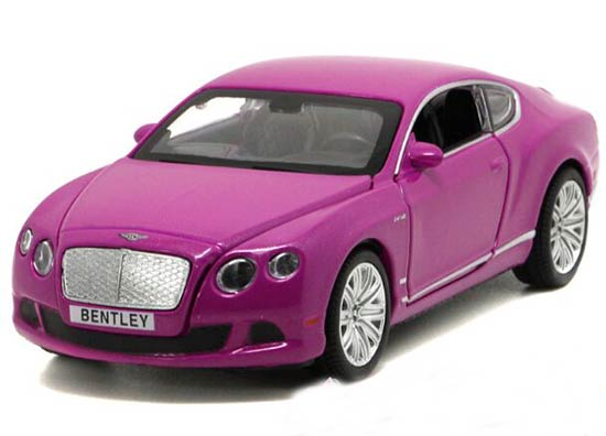 Kids 1:32 Purple /Green /Orange Diecast Bentley Continental Toy