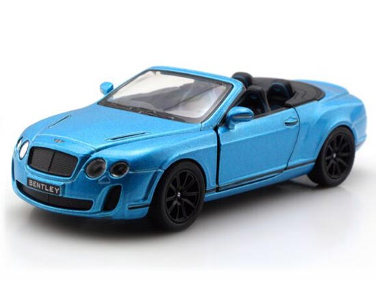 Kid Blue /White 1:38 Diecast Bentley Continental SUPERSPORT Toy