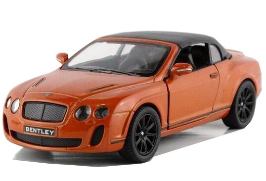 Kids 1:36 Scale Red / Orange Diecast Bentley Continental GT Toy