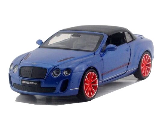 Gray / Black / Blue / White 1:32 Diecast Bentley Continental ISR