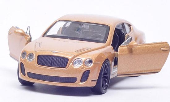 White /Red /Champagne 1:36 Welly Diecast Bentley Continental Toy