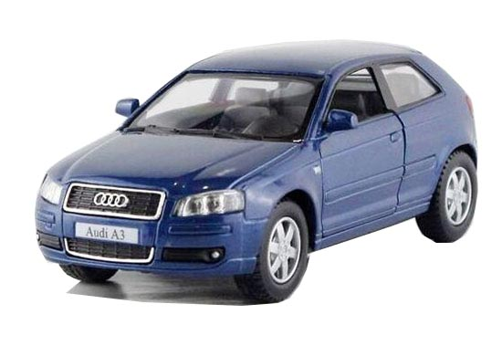 Kids 1:32 Yellow / Gray / Red / Blue Diecast Audi A3 Toy