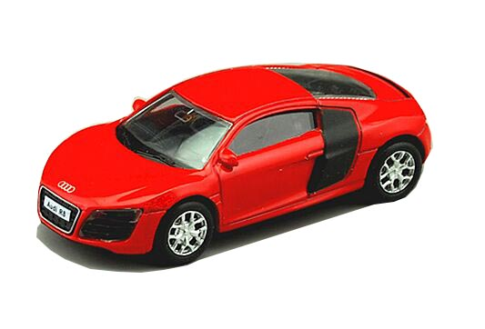 Red / Black / Silver Kids 1:64 Diecast Audi R8 V10 Toy