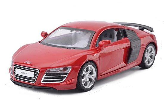 Kids White / Red / Silver 1:32 Scale Diecast Audi R8 GT Toy