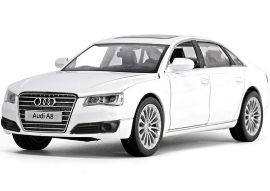 Kids 1:32 Scale White /Black /Silver /Golden Diecast Audi A8 Toy