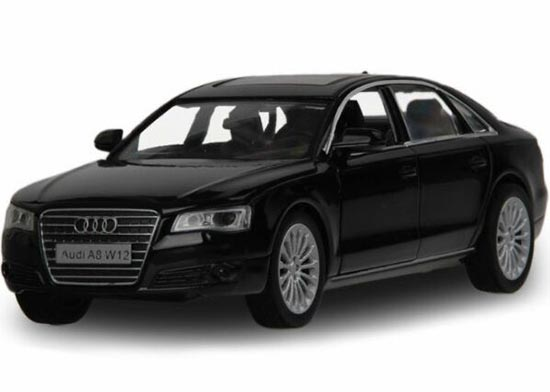 Kids 1:32 Scale Black / White Diecast Audi A8L Toy