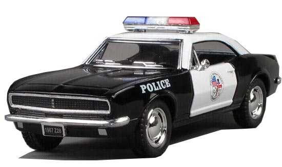Kids Black 1:36 Police Diecast 1967 Chevrolet Camaro Toy