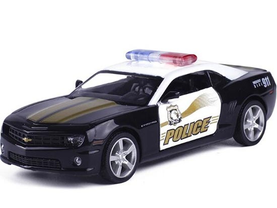 1:36 Kids Black Police Diecast Chevrolet Camaro Toy