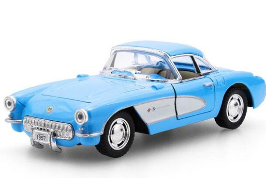 Kids 1:36 Black / Red / White / Blue Diecast Chevrolet Corvette