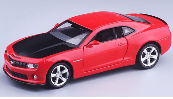 Kids 1:32 Scale Red / Blue Diecast Chevrolet Camaro Toy