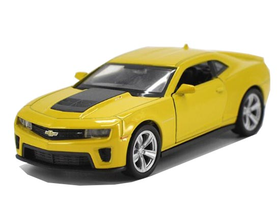 Kids 1:36 Yellow Welly Diecast Chevrolet Camaro Toy