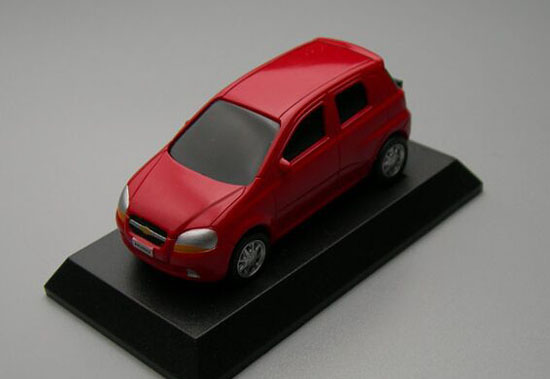 1:64 Scale Green / Red / Orange Diecast Chevrolet AVEO Toy