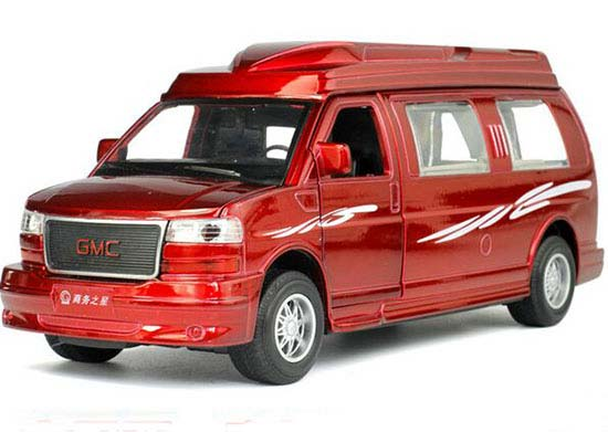 White / Red / Black Kids 1:32 Diecast GMC Savana Toy