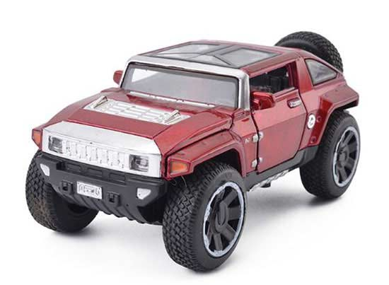 Blue / Red / Army Green / Golden 1:32 Diecast Hummer HX Toy