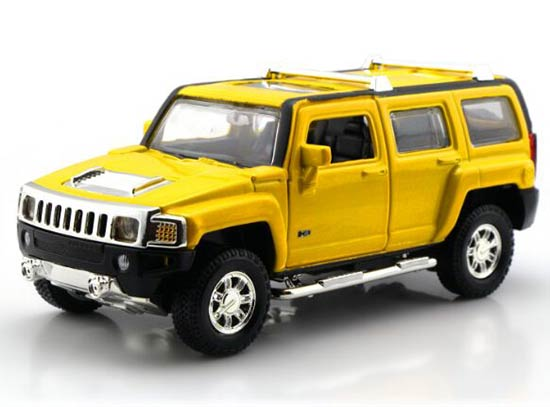 1:32 Kids Silver / Red / Black / Yellow Diecast Hummer H3 Toy