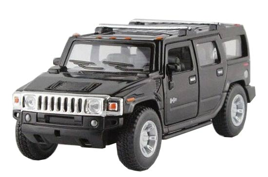 1:40 Red / White / Black / Yellow Diecast Hummer H2 Toy