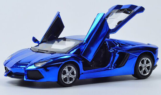 1 32 Purple Golden Blue Diecast Lamborghini Aventador