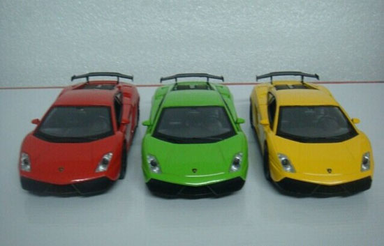 1:32 Green / Yellow / Red Kids Diecast Lamborghini Gallardo Toy